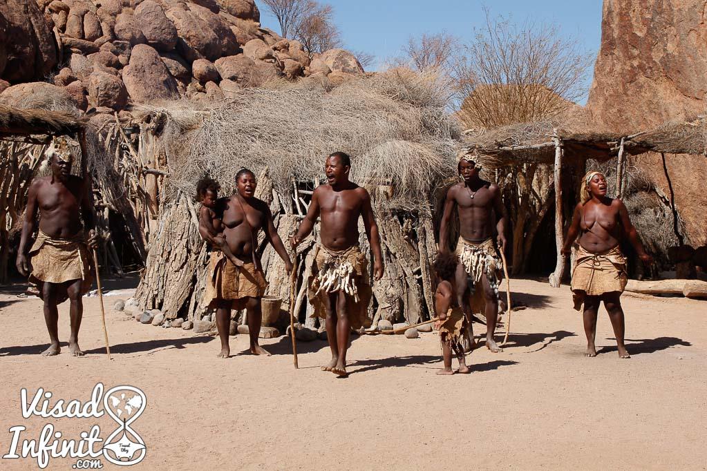 Foto tribu Damaraland, Namibia.