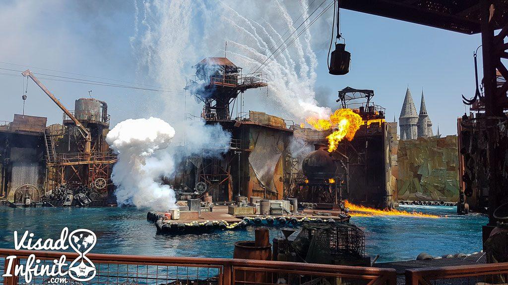 Universal Studios Holllywood - Espectáculo Waterworld
