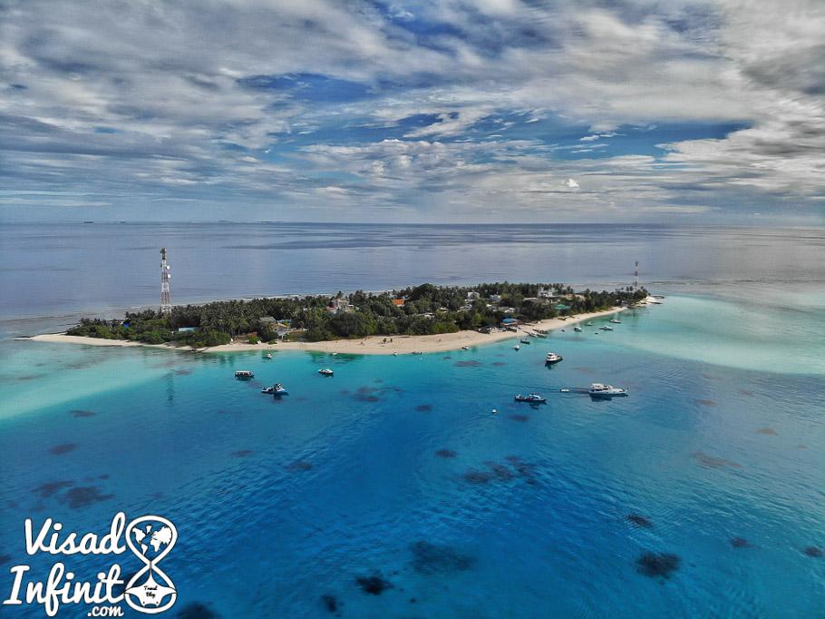 Fulidhoo drone view